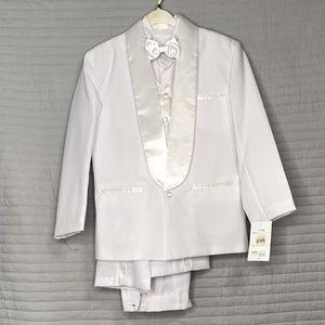 Boy's White Full Tux Set
